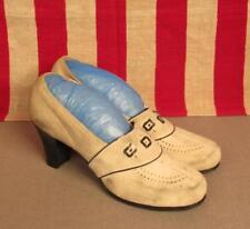 Vintage 1940s Millers Shoe Co. Suede Leather Heels Keokuk,Ia Size 8.5 Nice!