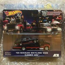 Hot Wheels 69 NISSAN SKYLINE VAN & CARRY ON