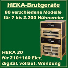 Heka 30 - Fully-Automatic Egg Incubator with Separate Hatcher - for 210+ 160