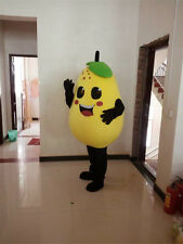 NEW Creative Easter PEAR fruit Mascot Costume Cartoon party Fancy Dress Adult A+
