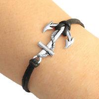 Silver Tone Anchor Charm Bracelet Lucky Friendship Bracelet