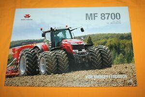 Massey Ferguson 8700 2013 Traktor Prospekt Tractor Brochure Tracteur Catalog