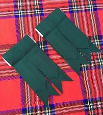 Scottish Kilt Sock Flashes Plain Green/Kilt Hose Flashes Green/kilt Flashes