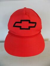 Vintage Chevrolet Hat Chevy Logo Red Rope Trucker Snapback Braid Gold Medal