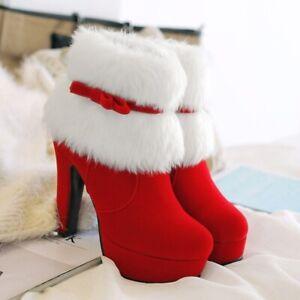 BELLE FESTIVE HEELS WINTER WOMEN BOOTS CHRISTMAS