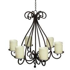 Kronleuchter Metall Kerzenhalter Deckenhänger Kerzenleuchter hängend 6-arm 60cm