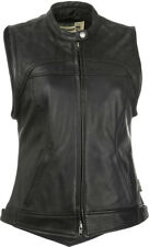 Highway 21 Women's Ava Leather Motorcycle Riding Vest Size Large L Lg
