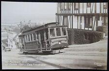 San Francisco CA Russian Hill O'Farrell, Jones & Hyde Streets Cable Car Postcard