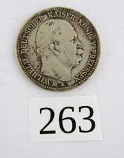 """2 Mark 1876 A """" Wilhelm König von Preussen """" Jäger J. 96 Silber Preußen"""