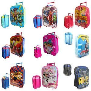 Disney Kids Boys Girls Cabin Trolley Case Wheeled Bag Suitcase Hand Luggage New
