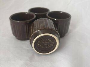 Vintage Biltons Brown Egg Cups x4
