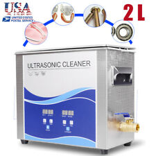 Ultrasonic Cleaner Cleaning Equipment Liter Industry Heated W/ Timer Heater USA