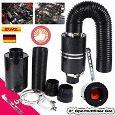 "3"" Universal Sportluftfilter Carbon Airbox Dynamic Luftbalge Autoumbau SATZ TOPM"