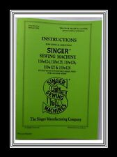SINGER 110w124 to 110w128 Sewing Machine Instruction Manual Booklet