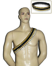 Bullet Belt Ammo Short 2d Army Bandolier Costume Accessory Party Decoration