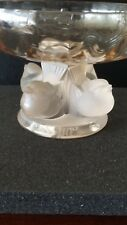 LALIQUE CRYSTAL COUPE NOGENT SPARROW BIRDS PEDESTAL FOOTED BOWL BRAND NEW