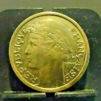 CIRCULATED 1941 2 FRANCS FRENCH COIN (90119)1...FREE DOMESTIC SHIPPING!!!!!