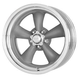 18x10 +6 American Racing Classic Torq Thrust II Gray 5x120.65 Wheel Rim (QTY 1)