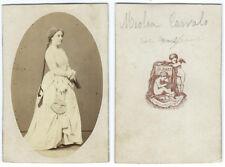 photo cdv cantatrice Opéra 1860 Caroline Miolan-Carvalho par A. Maze Paris