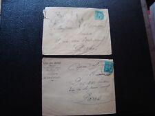 FRANCE - 2 enveloppes 1878/1881 (timbre yvert et tellier n° 75 tout etat)(B16)
