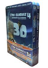 2 x Blu-ray 3D + Blu-ray 2D + Dvd **L'ERA GLACIALE 3 & 4** Combo Pack nuovo