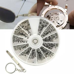 600pcs Tiny Micro Clock Watch Screws Screwdriver Eye Sun Glasses Repair Kit Tool