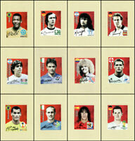 PANINI WORLD CUP 2018 SWISS GOLD STICKERS FULL SET OF 12 LEGEND STICKERS C1-C12