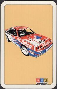 Playing Cards Single Card Old Vintage  McRAE AC DELCO OPAL MANTA RALLY MOTOR CAR