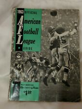 1963 AMERICAN FOOTBALL LEAGUE GUIDE -- AFL MEDIA GUIDE '63