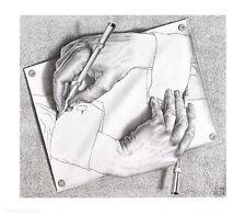 MC Escher Zeichnen Poster Kunstdruck Bild 55x65cm