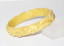 Vintage Celluloid Bracelet Bangle Floral carved Occupied Japan design