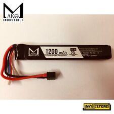 Batteria Lipo Li-Po MAKO INDUSTRIES 11,1V 1200 mAh 20C per Fucili Softair
