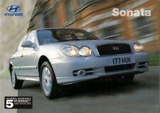 Hyundai Sonata 2003-04 UK Market Sales Brochure 2.0 CDX 2.7 V6