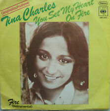 """7"""" 1975 ! TINA CHARLES : You Set My Heart On Fire /VG+"""