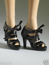 Tonner Nu Mood Black Sandal High Heel 3 Doll Shoes 2012, New, fit Wentworth Body