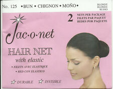 Jac-O-Net  mesh blond  rubio hair bun chignon mono net with elastic invisible