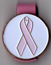 "Breast Cancer Awareness 1"" Golf Ball Marker & Pink Hat Clip"