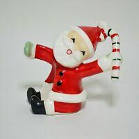 Vintage Napco Santa Candle Hugger Candy Cane 1957