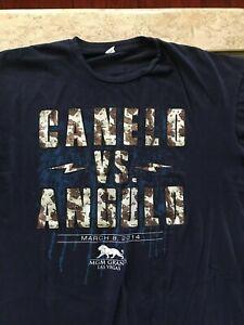 "Saul ""Canelo"" Alvarez vs Alfredo ""El Perro"" Angulo, Navy Blue + Camo T-Shirt 2XL"