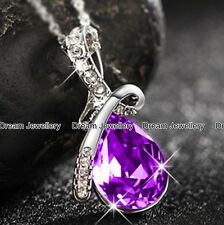 Amethyst Necklace Crystal Jewellery Diamond Necklace Birthday Gifts for Her Girl