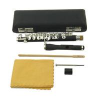 Piccolo Flute New Piccolo C key Rubber Wood Body Silver Plated Closed Hole Case