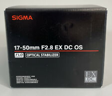 Sigma 583101, 17-50mm f/2.8 EX DC OS HSM Lens for CANON
