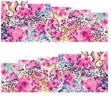 Nail Art Stickers Transfers Decals Pink Animal Skin (A-116)
