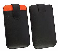 Genuine Calf Skin Leather Pouch Case Sleeve Fits Swipe Smartphones
