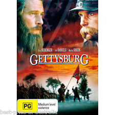 Gettysburg DVD TOP 1000 MOVIES AMERICAN CIVIL WAR BATTLE HISTORY BRAND NEW R4