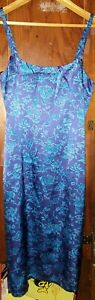 NWT INC INTERNATIONAL CONCEPTS SILK FLORAL MULTICOLOR TANK DRESS LINED SIZE 4P