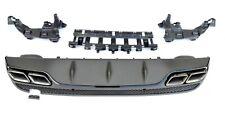 Difusor Para W205 Sedán AMG Conversión C63 Mostrar Escape Negro