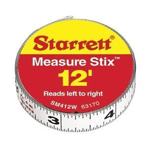 Starrett - Measure Stix Mountable Steel Tape Measure with Adhesive Back (12 ft)