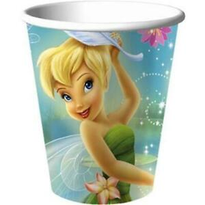 Tinkerbell and Fairies 9 oz Paper Cups 8 Count Tinker Bell Birthday Party Supply