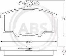 Brake Pad Set, disc brake A.B.S. 36532